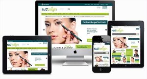 new website for NATorigin hypoallergenic and natural makeup