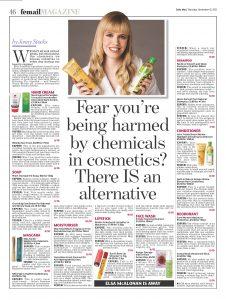 The Daily Mail scores ten out of ten to NATorigin Lengthening natural mascara
