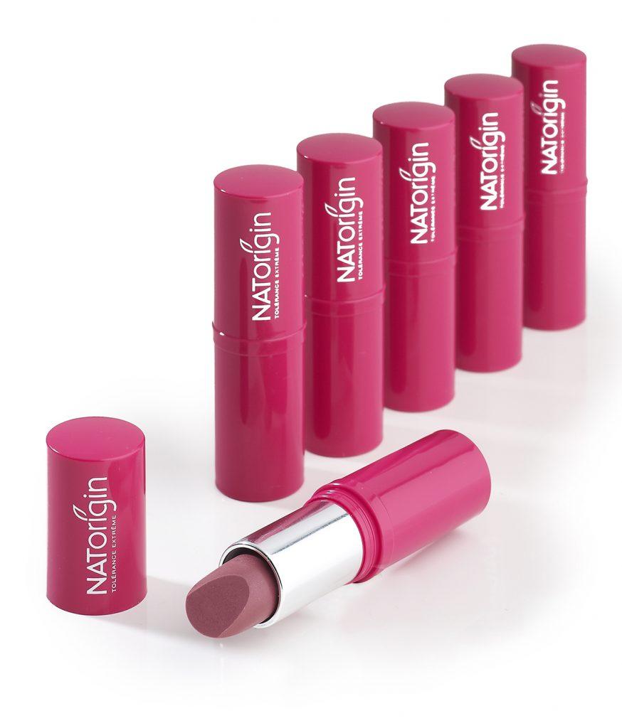 Five NATorigin natural and hypo-allergenic Lipsticks
