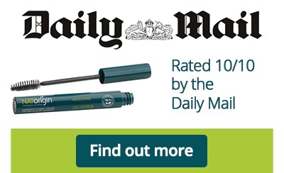 The Daily Mail awards NATorigin lengthening mascara 10 out of 10